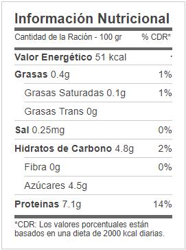 Valor Nutricional Batido de Proteinas Mercadona