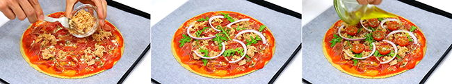 como hacer pizza de avena