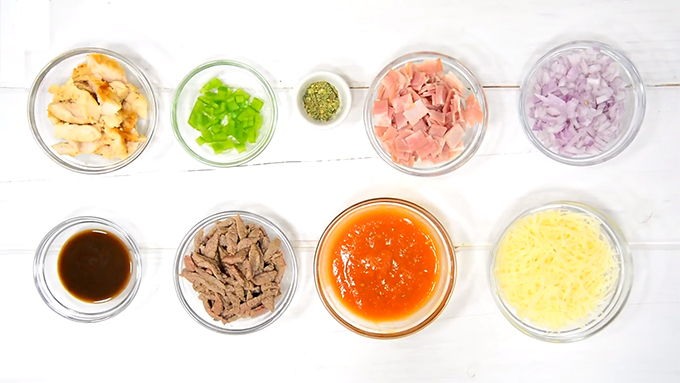 pizza proteica ingredientes