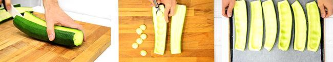 ingredientes calabacines rellenos con carne