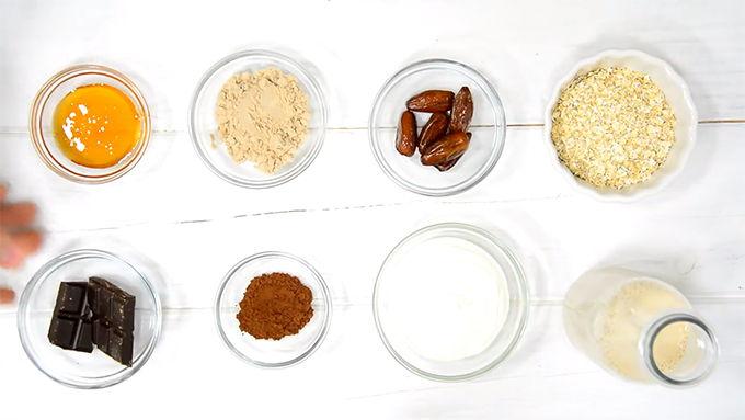 tarta de chocolate proteica ingredientes