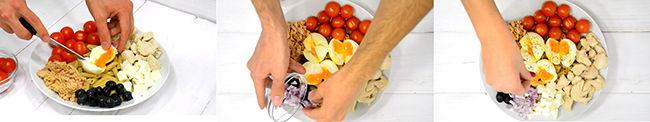 ensalada fitness y saludable