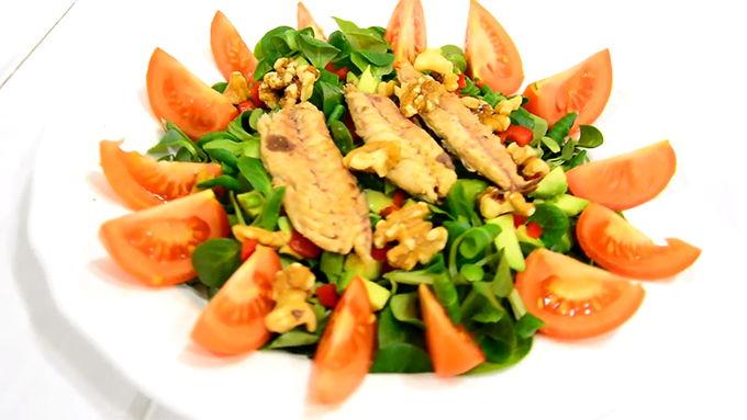 ensalada con proteina rapida
