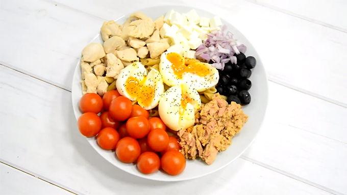 ensalada de proteinas