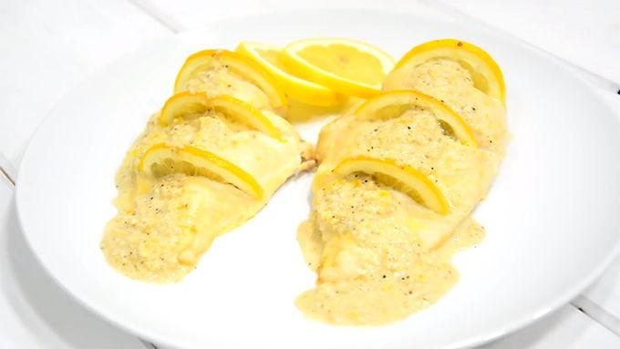 pollo al horno al limon receta