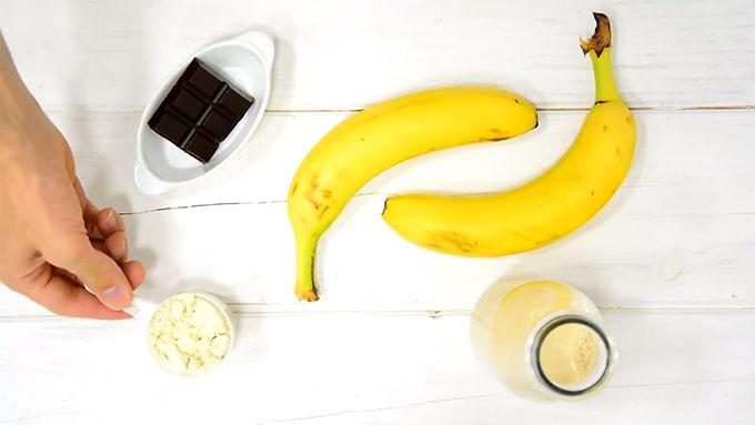 ingredientes helado proteico de platano