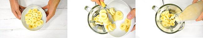 como preparar helado de platano
