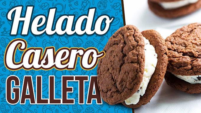 receta de helado de galleta
