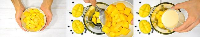 como hacer helado de mango