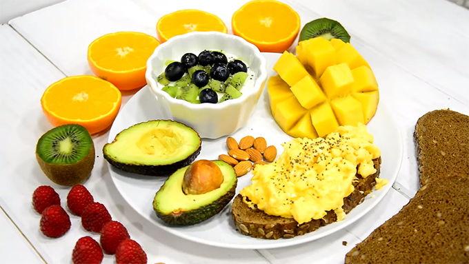 desayuno tropical saludable