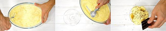 helado de platano y vainilla