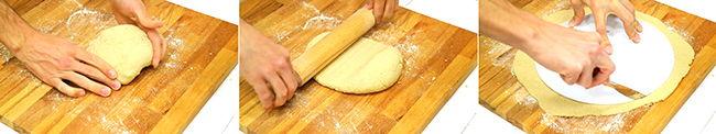masa pizza de harina de avena
