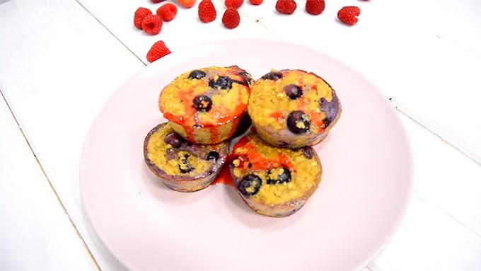 muffins con arandanos