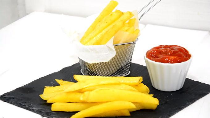 patatas fritas fitness con ketchup