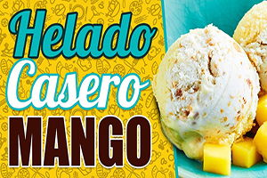 helado mango casero