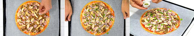 pizza saludable rica en proteinas