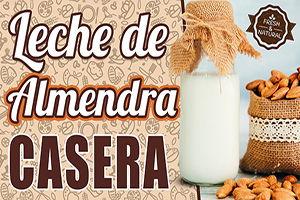 leche vegetal de almendras