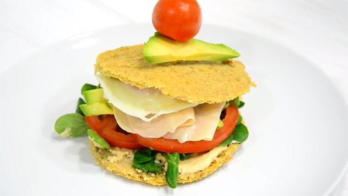 sandwich de proteina receta fitness