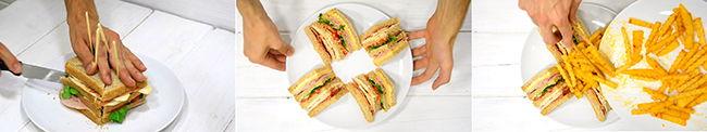 receta de sandwich del vips