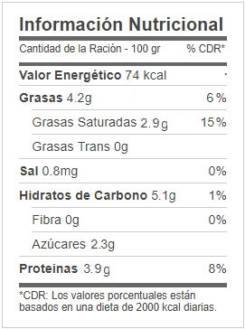 kefir mercadona informacion nutricional