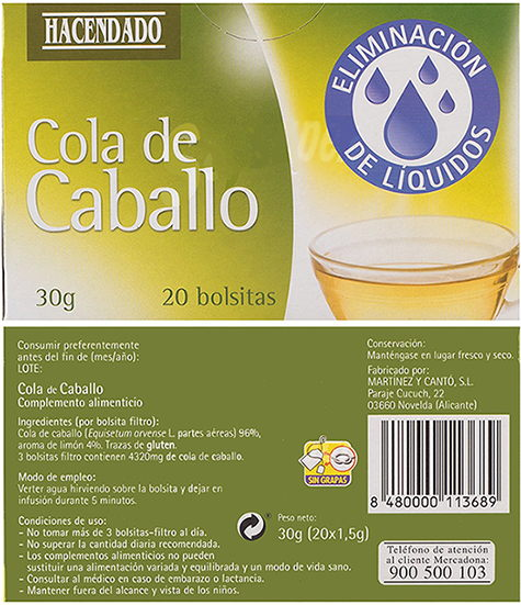 infusion cola de caballo mercadona